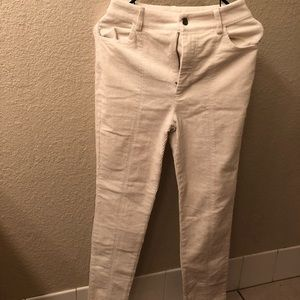 White corduroy pants from forever 21